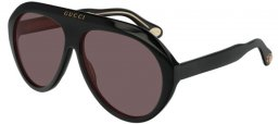 Sunglasses - Gucci - GG0479S - 001 BLACK // BROWN