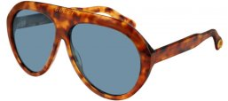 Sunglasses - Gucci - GG0479S - 004 LIGHT HAVANA // BLUE
