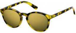 Frames Junior - Polaroid Junior - PLD 8024/S - SCL (LM) YELLOW HAVANA // GREY GOLD MIRROR POLARIZED