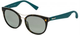 Sunglasses - Police - SPL412 SPARKLE 3 - 722K SHINY DARK HAVANA // GREEN GRADIENT MIRROR SILVER