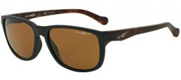 Sunglasses - Arnette - AN4214 STRAIGHT OUT - 231483 MATTE BLACK // BROWN POLARIZED