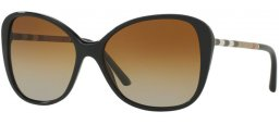 Sunglasses - Burberry - BE4235Q - 3001T5 BLACK // BROWN GRADIENT POLARIZED