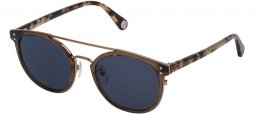 Lunettes de soleil - Carolina Herrera - SHE755 - 0913 SHINY TRANSPARENT BROWN // BLUE