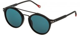 Sunglasses - Carolina Herrera - SHE807 - 0703  MATTE BLACK // BLUE