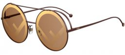 Sunglasses - Fendi - FF 0285/S - 09Q (EB) BROWN // BROWN MIRROR GOLD