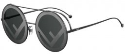 Sunglasses - Fendi - FF 0285/S - 807 (MD) BLACK // GREY