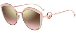 Sunglasses - Fendi - FF 0290/S - 35J (53)  PINK // BROWN ROSE GRADIENT MIRROR