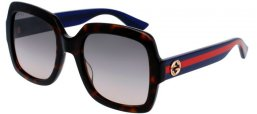 Sunglasses - Gucci - GG0036S - 004 HAVANA BLUE // BROWN GRADIENT