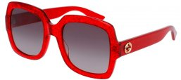 Sunglasses - Gucci - GG0036S - 005 RED // BROWN GRADIENT