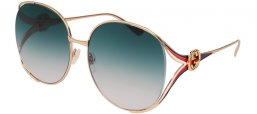 Sunglasses - Gucci - GG0225S - 004 GOLD // GREY GRADIENT