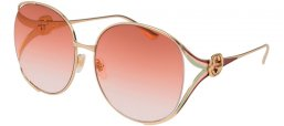 Sunglasses - Gucci - GG0225S - 005 GOLD // ORANGE GRADIENT