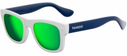 Gafas de Sol - Havaianas - PARATY/M - QT1 (Z9) WHITE BLUE // GREEN MULTILAYER