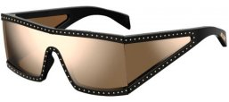 Sunglasses - Moschino - MOS004/S - 2M2 (SQ) BLACK GOLD // MULTILAYER GOLD MIRROR