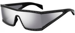 Sunglasses - Moschino - MOS004/S - BSC (DC) BLACK SILVER // EXTRA WHITE MULTILAYER MIRROR