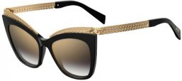 Sunglasses - Moschino - MOS009/S - 807 (FQ)  BLACK // GREY GRADIENT GOLD MIRROR