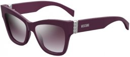 Sunglasses - Moschino - MOS011/S - B3V (OE)  VIOLET // VIOLET GRADIENT SILVER MIRROR