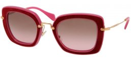 Sunglasses - Miu Miu - SMU 07OS - OAM5P1 FUXIA BORDEAUX // BROWN GRADIENT PINK