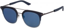 Gafas de Sol - Police - SPL584 HALO 4 - 627B DARK BLUE GUNMETAL // GREY MIRROR BLUE
