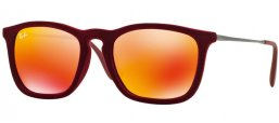 Sunglasses - Ray-Ban® - Ray-Ban® RB4187 CHRIS - 60786Q FLOCK BORDEAUX // RED MULTILAYER
