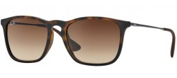 Sunglasses - Ray-Ban® - Ray-Ban® RB4187 CHRIS - 856/13 RUBBER HAVANA // GRADIENT BROWN