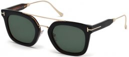 Sunglasses - Tom Ford - ALEX-02 FT0541 - 05N BLACK // GREEN