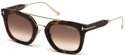 Sunglasses - Tom Ford - ALEX-02 FT0541 - 55U DARK HAVANA // BROWN GRADIENT MIRROR