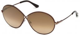 Sunglasses - Tom Ford - RANIA-02 FT0564 - 48G SHINY DARK BROWN // BROWN GRADIENT MIRROR