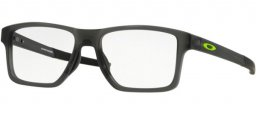 Frames - Oakley Prescription Eyewear - OX8143 CHAMFER SQUARED - 8143-02 SATIN GREY SMOKE
