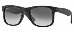 Sunglasses - Ray-Ban® - Ray-Ban® RB4165 JUSTIN - 601/8G RUBBER BLACK // GREY GRADIENT