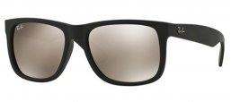 Sunglasses - Ray-Ban® - Ray-Ban® RB4165 JUSTIN - 622/5A RUBBER BLACK // LIGHT BROWN MIRROR GOLD