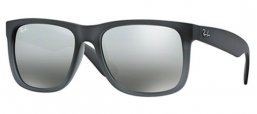 Sunglasses - Ray-Ban® - Ray-Ban® RB4165 JUSTIN - 852/88 MATTE GREY GREY TRASPARENT//  GREY SILVER MIRROR GRADIENT