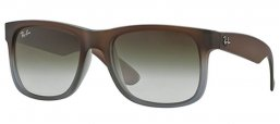 Sunglasses - Ray-Ban® - Ray-Ban® RB4165 JUSTIN - 854/7Z RUBBER BROWN ON GREY //  GREEN GRADIENT