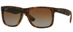 Sunglasses - Ray-Ban® - Ray-Ban® RB4165 JUSTIN - 865/T5 HAVANA RUBBER // BROWN GRADIENT POLARIZED