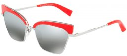 Sunglasses - Alain Mikli - A04005 ALOUETTE - 003/88 PONTILLE' RED SILVER // GREY MIRROR SILVER GRADIENT