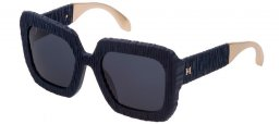 Sunglasses - Carolina Herrera New York - SHN600  - D82M  MATTE BLUE // BLUE