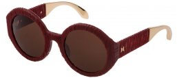 Sunglasses - Carolina Herrera New York - SHN601  - 9FHM  MATTE BURGUNDY // BROWN