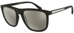 Sunglasses - Emporio Armani - EA4124 - 50426G MATTE BLACK // LIGHT GREY MIRROR SILVER