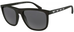 Sunglasses - Emporio Armani - EA4124 - 573381 MATTE BLACK // GREY POLARIZED