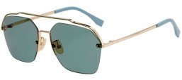 Sunglasses - Fendi - FF M0032/S - J5G (O7)  GOLD // LIGHT GREEN