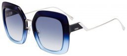 Sunglasses - Fendi - FF 0317/S - ZX9 (08)  BLUE AZURE // DARK BLUE GRADIENT