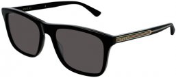 Sunglasses - Gucci - GG0381S - 001 Calibre55 BLACK // GREY