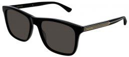 Sunglasses - Gucci - GG0381S - 002 Calibre55 BLACK // GREY POLARIZED