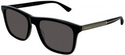 Sunglasses - Gucci - GG0381S - 006 Calibre57 BLACK // GREY