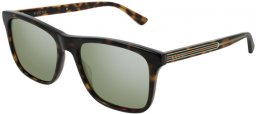 Sunglasses - Gucci - GG0381S - 008 Calibre57 DARK HAVANA // SILVER FLASH