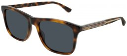 Sunglasses - Gucci - GG0381S - 009 Calibre57 HAVANA // BLUE