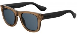 Gafas de Sol - Havaianas - PARATY/M - EWD (KU)  BROWN BLACK // BLUE GREY