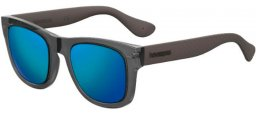 Gafas de Sol - Havaianas - PARATY/M - HWJ (Z0)  DARK GREY // BLUE MULTILAYER