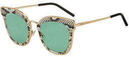 Gafas de Sol - Jimmy Choo - NILE/S - 01Q (O7) GOLD BROWN // LIGHT GREEN ANTIREFLECTION