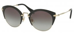 Gafas de Sol - Miu Miu - SMU 53RS - 1AB0A7 BLACK  PALE GOLD // GREY GRADIENT