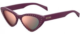 Sunglasses - Moschino - MOS006/S - B3V (0J) VIOLET // GREY ROSE GOLD MIRROR
